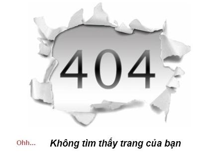 Lỗi 404!